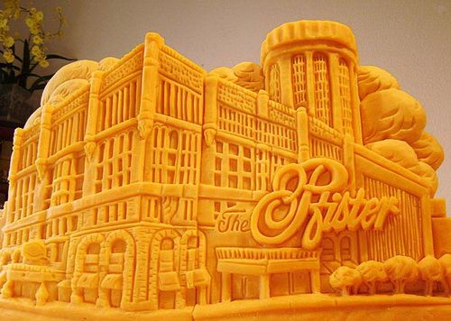 cheese sculpture pfister hotel in downtown milwaukee
